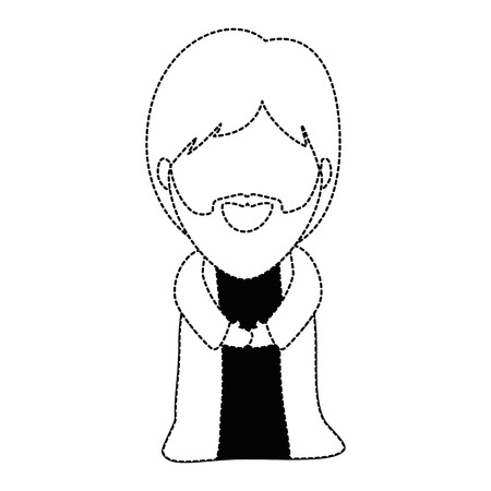 cute saint joseph character vector illustration design 向量圖像