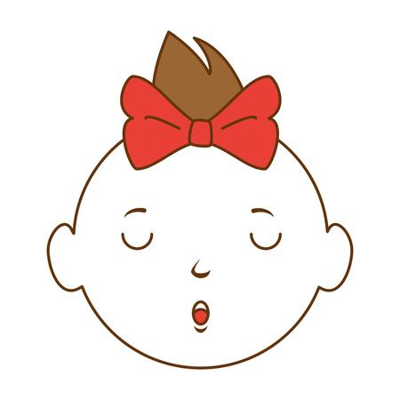 A baby girl avatar character vector illustration design Illustration