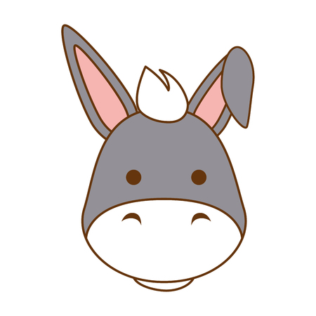 A cute mule character icon vector illustration design Vectores