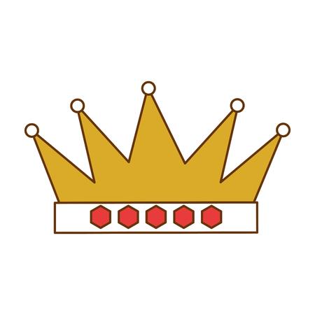 Een ontwerp van de het pictogram vectorillustratie van de koningskroon geïsoleerd