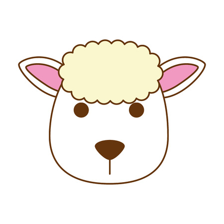 Cute sheep character icon illustration design.