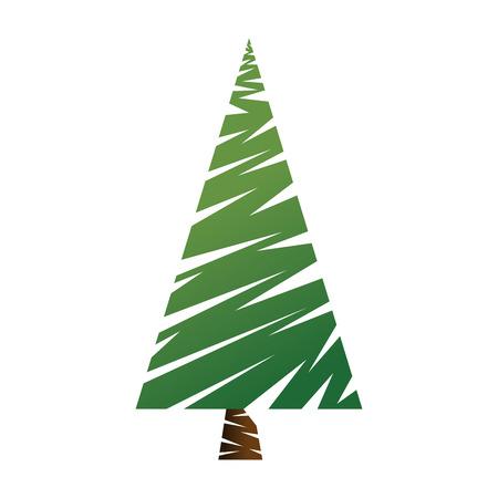 Pine tree plant icon illustration design. Stock fotó - 92242003