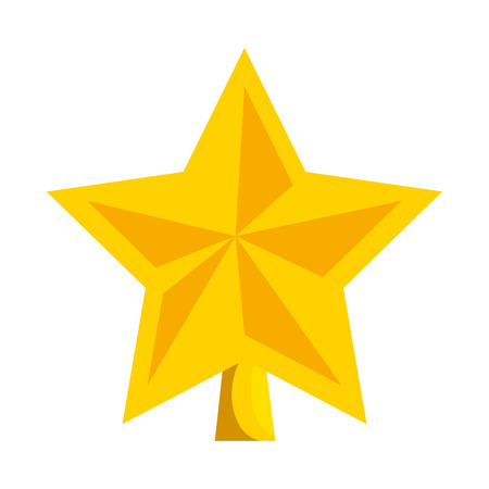 Star decorative isolated icon illustration design.