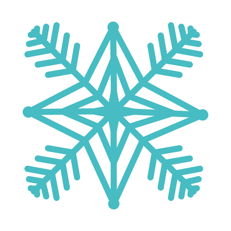 Snow flake isolated icon illustration design.