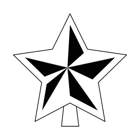 Star decorative isolated icon  illustration design. Illustration