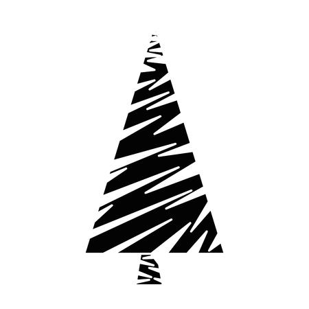 Merry Christmas pine tree illustration design. Stok Fotoğraf - 92242389