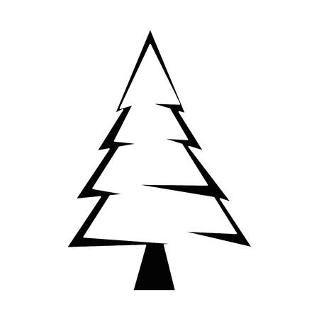 Pine tree plant icon vector illustration design Illusztráció