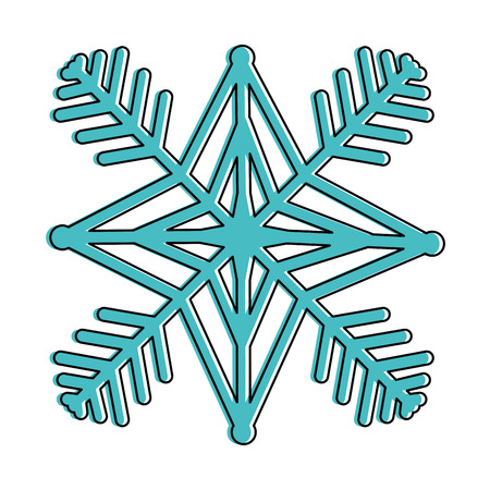 snow flake isolated icon vector illustration design Banco de Imagens - 92203376