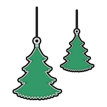 pine tree hanging icon vector illustration design Illustration