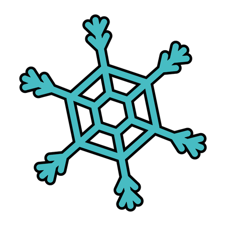 Schneeflocke isoliert Symbol Vektor-Illustration , Design , Standard-Bild - 92200657