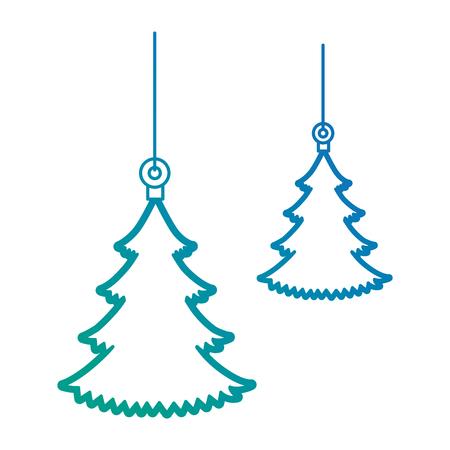 pine tree hanging icon vector illustration design Illusztráció