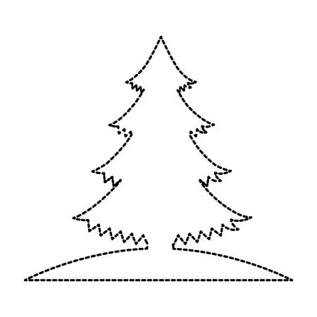 Pine tree plant icon vector illustration design Иллюстрация