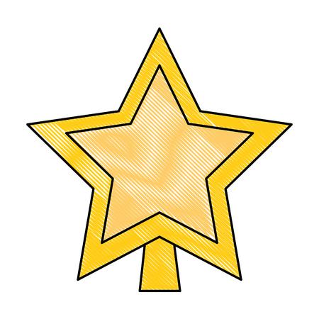 star decorative isolated icon vector illustration design 版權商用圖片 - 92215605