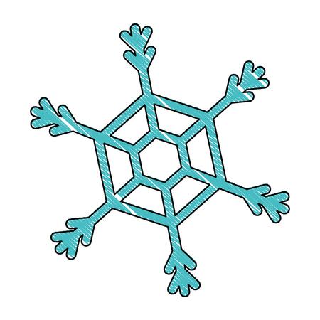Sneeuwvlok geïsoleerd pictogram vector illustratie ontwerp