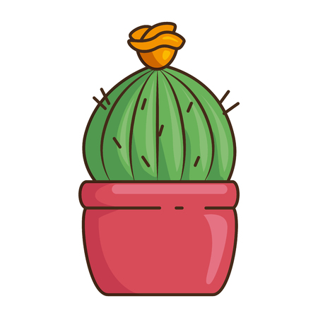 pot with desert plant vector illustration design Illustration