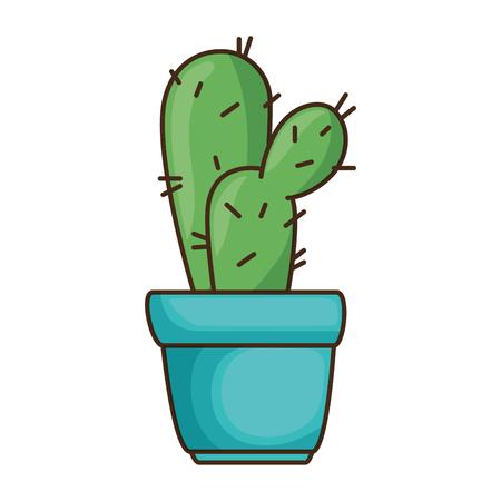 pot with desert plant vector illustration design Stok Fotoğraf - 92215675