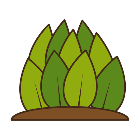 Plants cultivated isolated icon vector illustration design Ilustrace