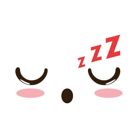 asleep face emoji  character vector illustration design
