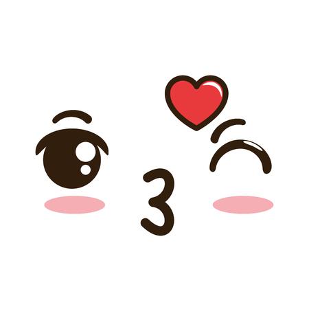 lovely face emoji  character vector illustration design Foto de archivo - 92202874