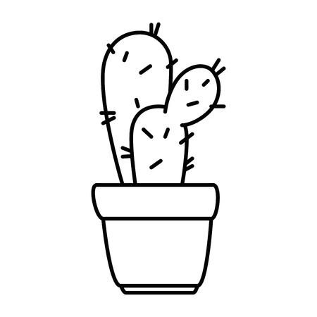 pot with desert plant vector illustration design Stok Fotoğraf - 92202924
