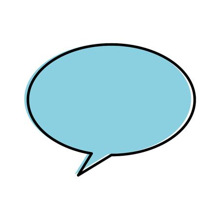 Speech bubble isolated icon illustration design.