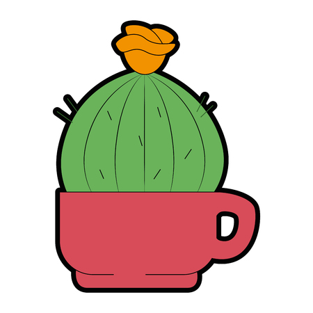 Cactus in a pot icon. Illustration