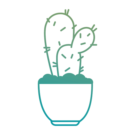 pot with desert plant vector illustration design Stok Fotoğraf - 92228127