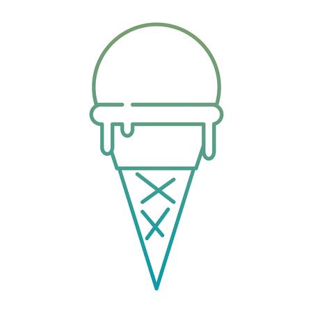 맛있는 아이스크림 아이콘 벡터 일러스트 디자인