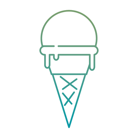 delicious ice cream icon vector illustration design Stock fotó - 92228134