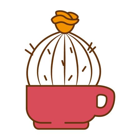 Pot with desert plant vector illustration design Stok Fotoğraf - 92228430