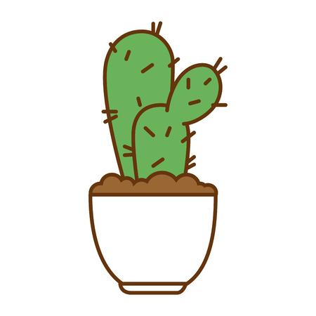 Pot with desert plant vector illustration design Stok Fotoğraf - 92228435