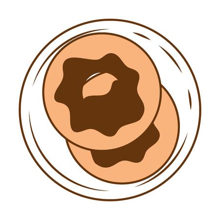 Delicious sweet donut icon vector illustration design Illustration