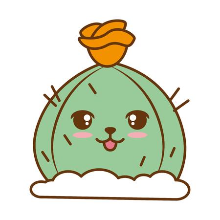 Cactus desert kawaii character vector illustration design Ilustração