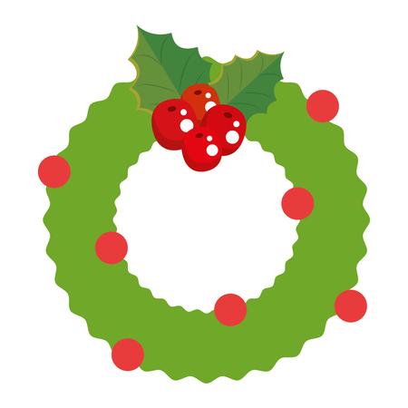 Christmas crown decorative icon vector illustration design