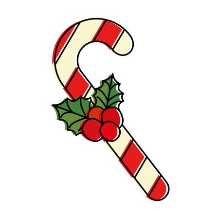 ontwerp van de het pictogram vectorillustratie van het Kerstmisriet het decoratieve Stock Illustratie