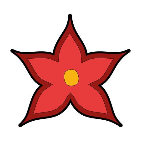 christmas flower decorative icon vector illustration design Ilustração