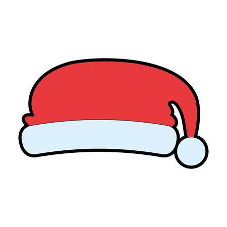 Christmas hat decorative icon vector illustration design.