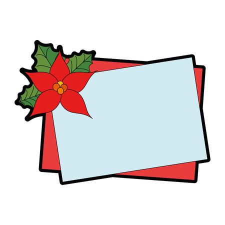 Christmas flower decorative icon illustration design.