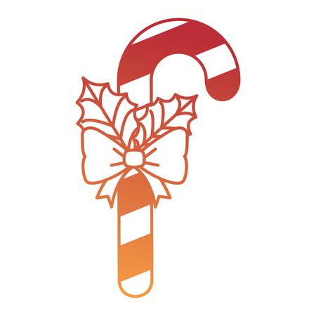 크리스마스 지팡이 장식 아이콘 벡터 일러스트 레이 션 디자인. 일러스트