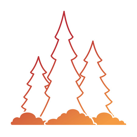 Pine forest scene icon vector illustration design.