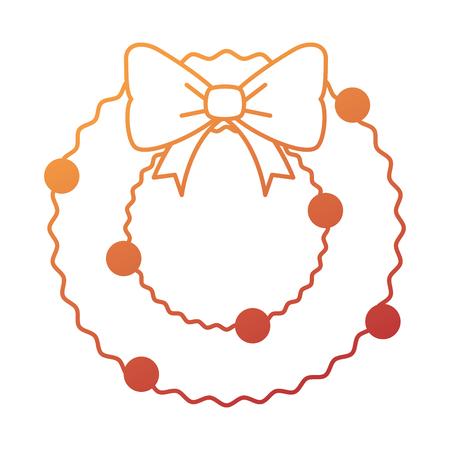 christmas crown decorative icon vector illustration design Illustration