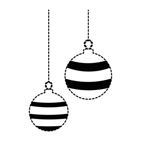 Christmas ball hanging icon vector illustration design. 向量圖像