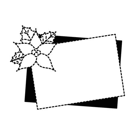 Christmas flower decorative icon vector illustration design.