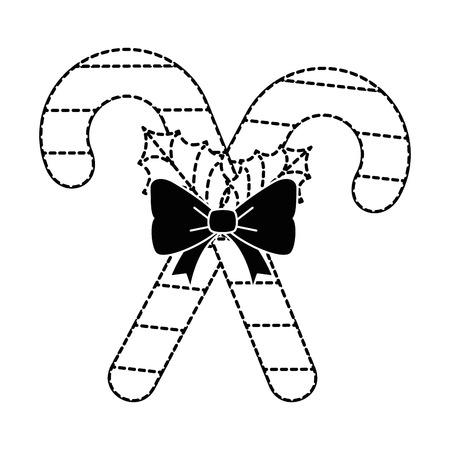 Christmas cane decorative icon vector illustration design. Ilustração