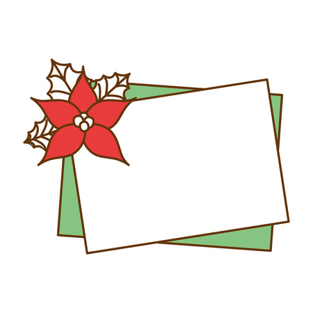 christmas flower decorative icon vector illustration design Illustration
