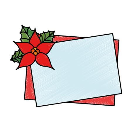 christmas flower decorative icon vector illustration design Иллюстрация