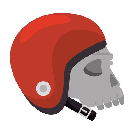 Extreme skull with helmet illustration design.