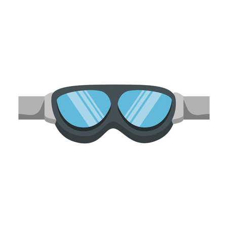 Biker eye protection  isolated icon  illustration design. Ilustrace