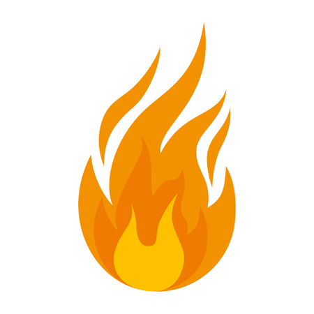Fire flame isolated icon vector illustration design Çizim