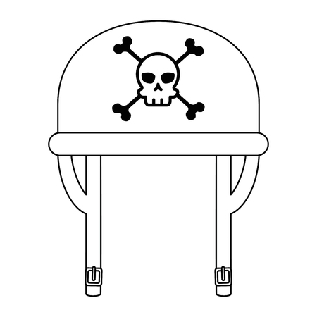 motorcycle helmet with skull classic icon vector illustration design